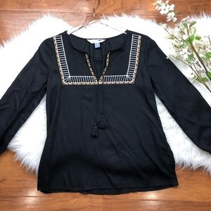 Old Navy | Embroidered Tunic Peasant Top